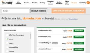 Belegte Domains überwachen